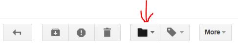 Gmail - переместить в папку